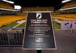 November 16, 2017: Senator Fontana participated in a Pittsburgh Steelers pregame ceremony last Thursday night at Heinz Field as the Steelers dedicated a seat as part of the One Empty Seat program.