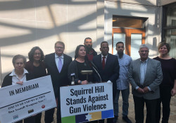 October 24, 2019: Senator Fontana spoke at an Oct. 24 press conference in Squirrel Hill, hosted by Squirrel Hill Stands Against Gun Violence, Bend the Arc: Pittsburgh, and CeaseFirePA that focused on the need for action at the state and federal level to reduce gun violence in the wake of last year's Oct. 27 shooting at Tree of Life.