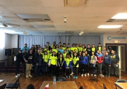 October 20, 2018: Senator Fontana visited with and provided lunch to students from the University of Pittsburgh who worked with South Pittsburgh Development Corporation for Brookline Community Cleanup Day.  Students and volunteers spent the morning mulching, weeding and picking up litter along Brookline Boulevard.