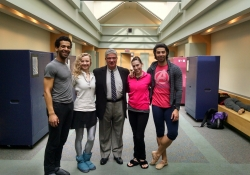 March 13, 2015: Senator Fontana visited with Harris Ferris, Executive Director of the Pittsburgh Ballet Theatre on March 13th to discuss their school expansion project and other initiatives, including their youth scholarship program. Senator Fontana is pictured with dancers Corey Bourbonniere, Diana Yohe, Gabrielle Thurlow, and Alexandre Silva.