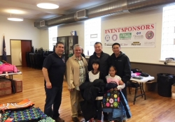 October 28, 2017: Senator Fontana visited with Pittsburgh Firefighters on Saturday at their annual Operation Warm Coats for Kids distribution.
