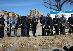 March 23, 2015: Senator Fontana was proud to serve as the master of ceremonies at the Groundbreaking Ceremony for Phase I of the Lower Hill Infrastructure Project