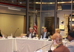 "November 5, 2015: Senator Fontana participated in a Roundtable Discussion with the Senate Democratic Policy Committee in Pittsburgh. The Discussion centered on the integration of the arts with science and mathematics in education, the ""STEAM"" Movement, with a focus on how this type of learning better prepares our emerging workforce for jobs that pay."