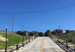October 7, 2016: State Senator Wayne D. Fontana today served as master of ribbon cutting ceremonies as officials and community leaders marked the opening of the new connector streets in the city's lower Hill District.