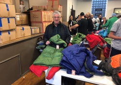 October 27, 2018: Senator Fontana visited the Pittsburgh Firefighters Operation Warm event on Saturday morning. Now in its 7th year, this initiative by the Firefighters raises funds to purchase winter coats which are then distributed to children throughout the region.