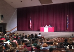 April 20, 2018: Senator Fontana participated in a Town Hall meeting with students at Northgate High School.
