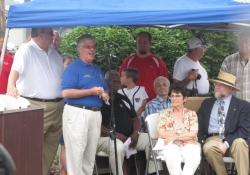 July 15, 2012: Senator Fontana speaks at the Heidelberg Raceway & Sports Arena dedication ceremony on July 15th.