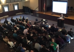 October 4, 2017: Senator Fontana offered opening remarks at the Oct. 4 Pathways to Pardons town hall meeting that he hosted along with Lt. Governor Mike Stack at the Teamsters Temple in Lawrenceville. Presenters focused on the process involved with pardons, commutations and expungements and answered a variety of questions from attendees.