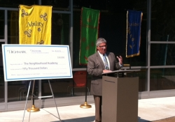 June 12, 2015: Senator Fontana visited The Neighborhood Academy on June 12th and spoke at a check presentation ceremony. Highmark announced a contribution of $50,000 through the Opportunity Scholarship Tax Credit program to The Neighborhood Academy.