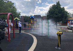 August 2020: Senator Fontana participated in a ribbon cutting ceremony for the new Spray Park at Nelson Mandela Park in Garfield. Senator Fontana provided grant funding for the project.
