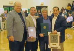 February 4, 2012: Senator Wayne D. Fontana is joined by State Representatives Dan Deasy and Nick Kotik and Craig Rippole, a 2012 inductee in the Sto-Rox Sports Hall of Fame.