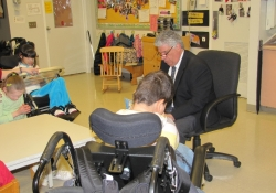 April 11, 2012: Senator Fontana visited the Western Pennsylvania School for Blind Children.
