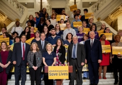 March 20, 2019: Senator Fontana attends a press conference to announce legislation to set safe nurse-to-patient limits in Pennsylvania hospitals.