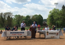 May 11, 2018: Senator Fontana spoke at a ceremony and presented a Senate citation honoring the 65th anniversary of the Morningside Baseball Association on Saturday.