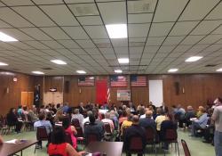 April 20, 2017: Senator Fontana, Representative Dan Deasy and Representative Anita Kulik hosted a Town Hall meeting at the McKees Rocks VFW to discuss the heroin and opioid abuse crisis.
