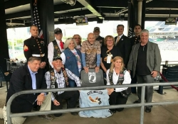 """June 8, 2017: I was honored to participate in a pre-game ceremony at PNC Park last Thursday night prior to the Pirates-Marlins game where the team honored the sacrifices made by more than 92,000 American service men and women who are Prisoners of War or Missing in Action since World War I by dedicating """"one empty seat"""" at the ballpark."""
