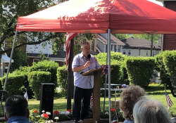 May 25, 2019: Senator Fontana spoke at the annual Beechview Memorial Service at the Parklet in Beechview . He was proud to announce that he has secured funding for the erecting of a monument in the Parklet that will pay tribute to those who lost their lives in wars and conflicts since the Vietnam War. Current monuments in the Parklet honor war veterans through the Vietnam War.