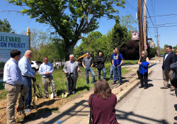 May 2021:  Senator Fontana participated in a groundbreaking ceremony in Crafton for the borough's sewer separation project. Senator Fontana was able to help secure a $250,000 state grant to assist the project. The project will help reduce flooding risks and keep waterways clean.