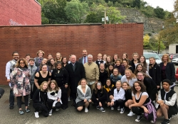 """October 13, 2018: Senator Fontana attended Pittsburgh Musical Theater's annual """"Dancing in the Streets"""" day in the West End as part of RADical Days."""