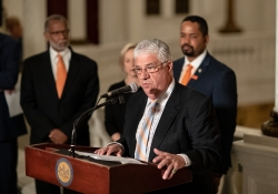 June 5, 2019: Senator Fontana holds press conference to outline various policy on gun reform in the commonwealth in an effort to provide substantive reform that addresses the proliferation of firearms as well as those effects at a state level.