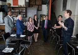 May 23, 2019: Senator Fontana participated in tours during  a statewide day of action on with businesses that choose to pay their employees a living wage.