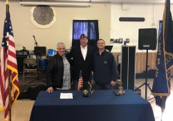 November 11, 2018: Senator Fontana visited American Legion Post 496 in Sheraden on  Veterans Day, and participated in a brief ceremony honoring the Post's veterans.