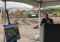 May 3, 2019: Senator Fontana participated in a groundbreaking ceremony  in McKees Rocks for the Speedway Fueling Station.