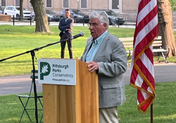 July 2021: Senator Fontana participated in a ribbon cutting ceremony at the North Promenade in Allegheny Commons Park which underwent a major rehabilitation. Senator Fontana was happy to help bring a $1 million state RACP grant for the project.