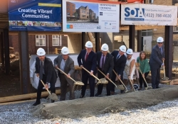 August 23, 2017: Senator Fontana participated in a groundbreaking ceremony in Morningside on Aug. 23 for the Morningside Crossing project.