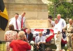 May 28, 2012: Senator Fontana spoke at a ceremony on Memorial Day at Soldiers & Sailors Memorial Hall & Museum as they rededicated the Cornerstone and 2012 Time Capsule.