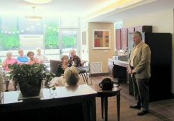 May 30, 2012: Senator Fontana answers questions from residents of the Mazza Pavilion in Brookline on May 30th.