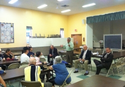 September 9, 2015: Senator Fontana attended and participated in a Town Hall meeting in Brookilne, organized by Representative Dan Miller that included Representatives Harry Readshaw and Dan Deasy that discussed the status of the state budget and various local issues.