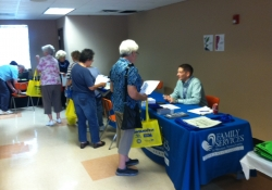 September 25, 2015: I hosted my annual Flu/Pneumonia Shot & Senior Clinic in Quinn Hall at the Church of the Resurrection in Brookline.