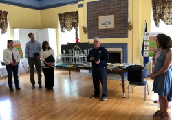 May 11, 2019: Senator Fontana presented a Senate Citation to the Avon Club in Ben Avon in recognition of their 75th anniversary. Avon Club is a social and community service organization with membership open to women who live or work in the Avonworth School District.  The Club was founded in 1944 by women whose husbands were serving in World War II.