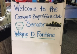 December 19, 2017: I was invited to visit the Carnegie location of the Boys & Girls Clubs of Western PA.
