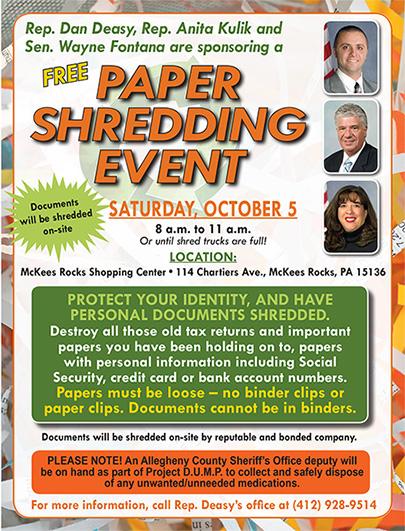 Free Paper Shredding Event